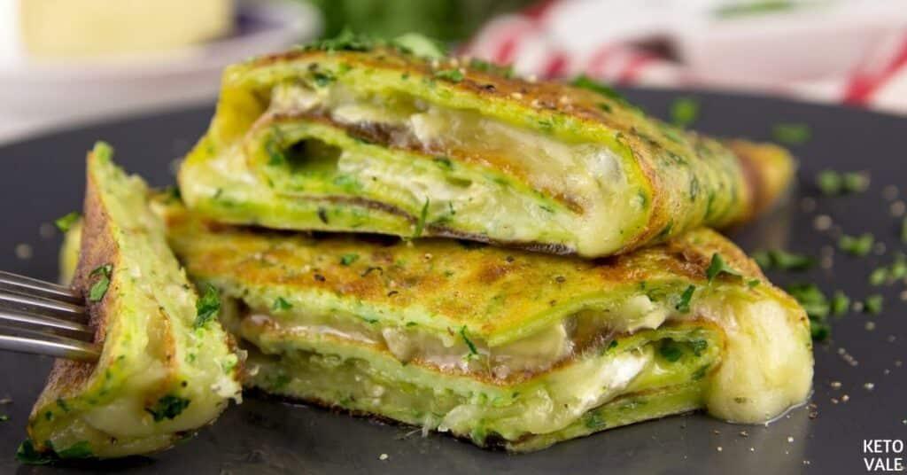 herb camembert omelette roll