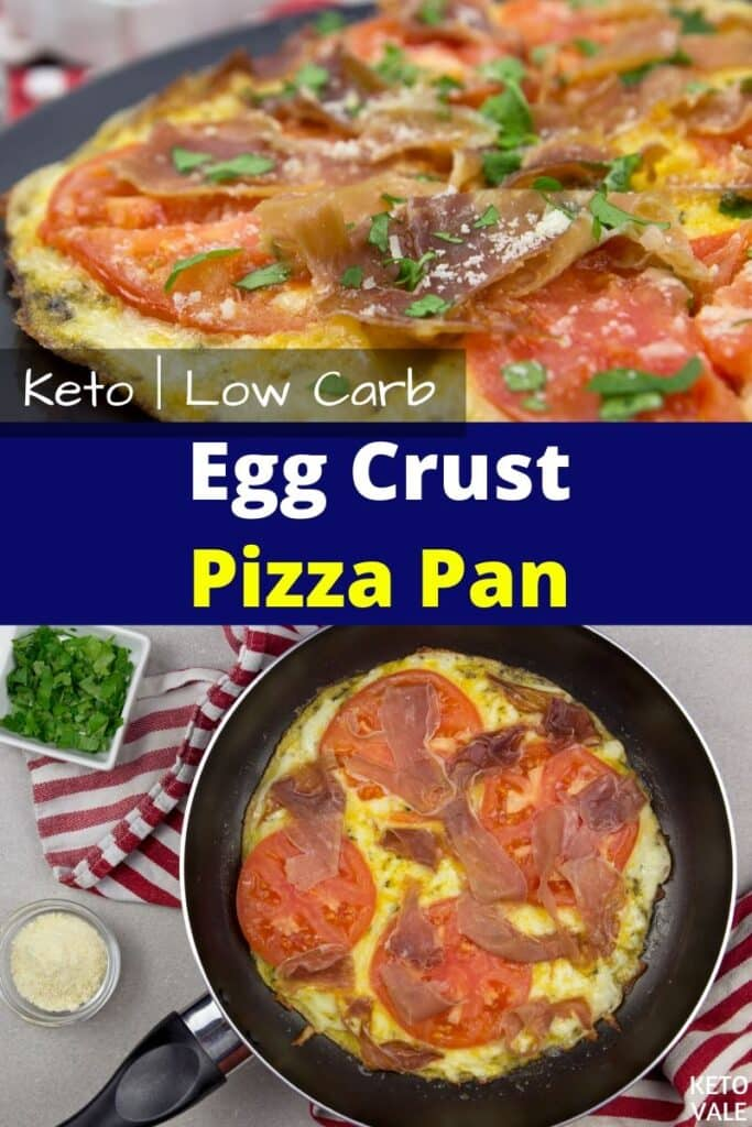 keto egg crust pizza pan