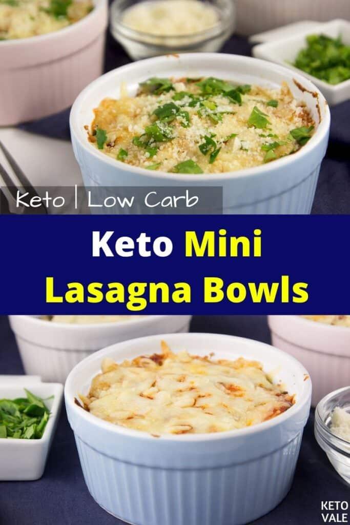 keto mini lasagna bowls