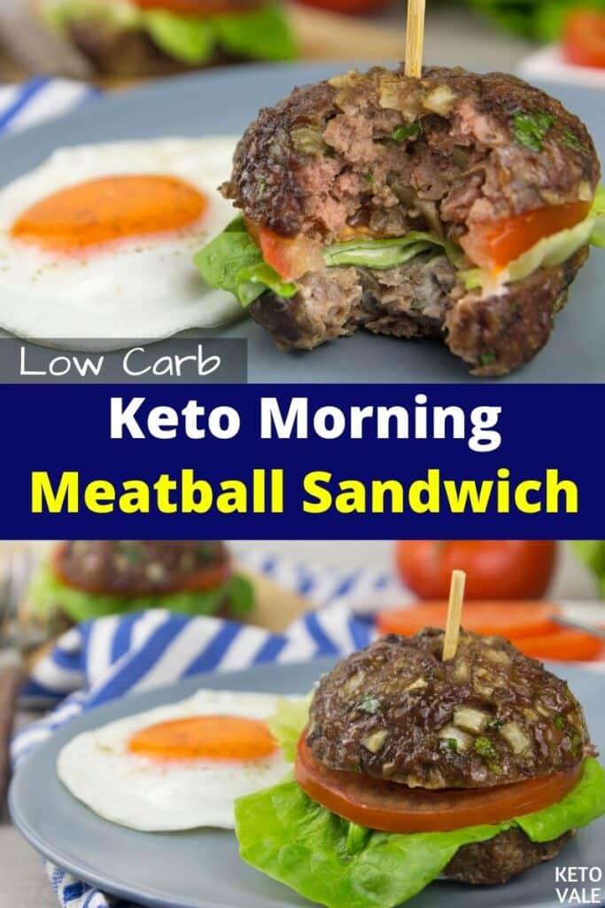 keto morning meatball sandwich