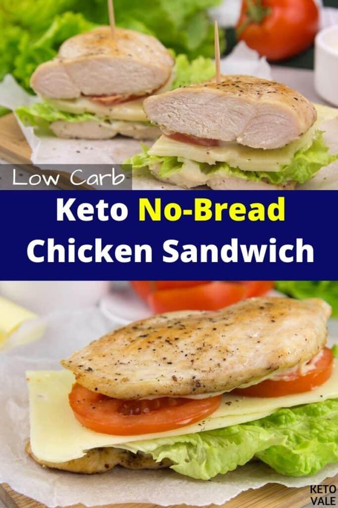 keto no bread chicken sandwich