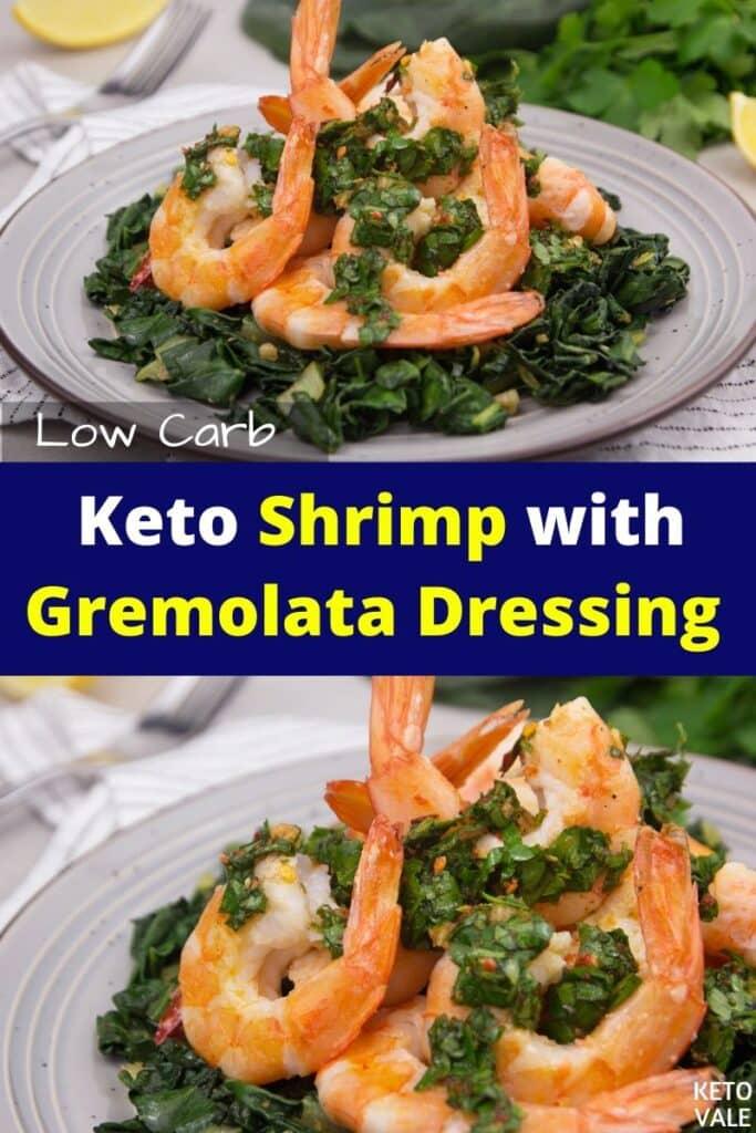 keto shrimp with gremolata dressing