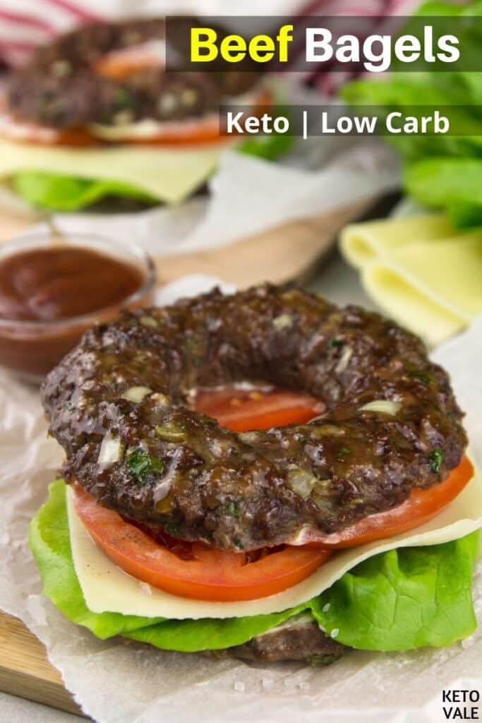 low carb beef bagels