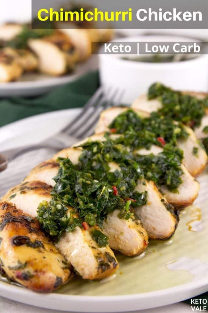low carb chimichurri chicken