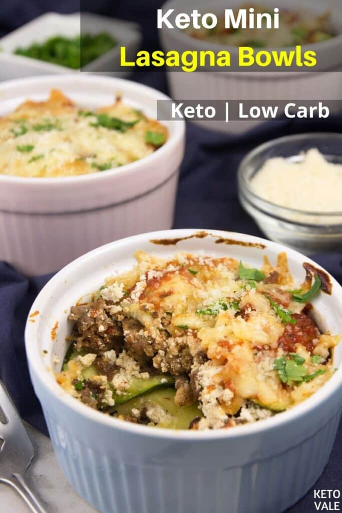 low carb mini lasagna bowls