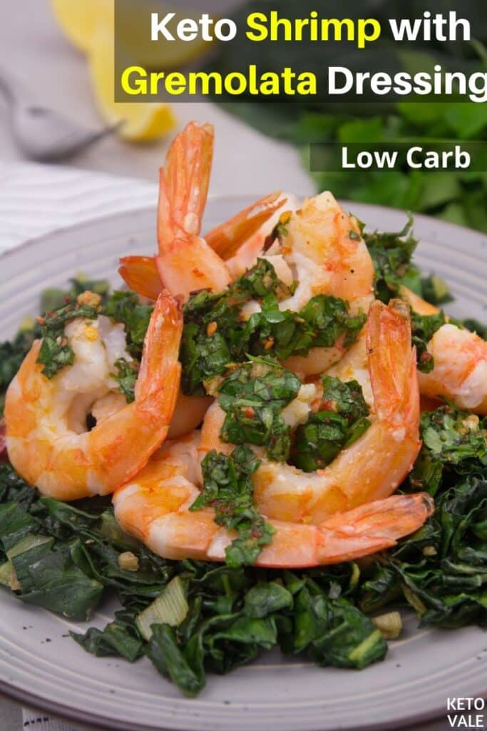 low carb shrimp with gremolata dressing