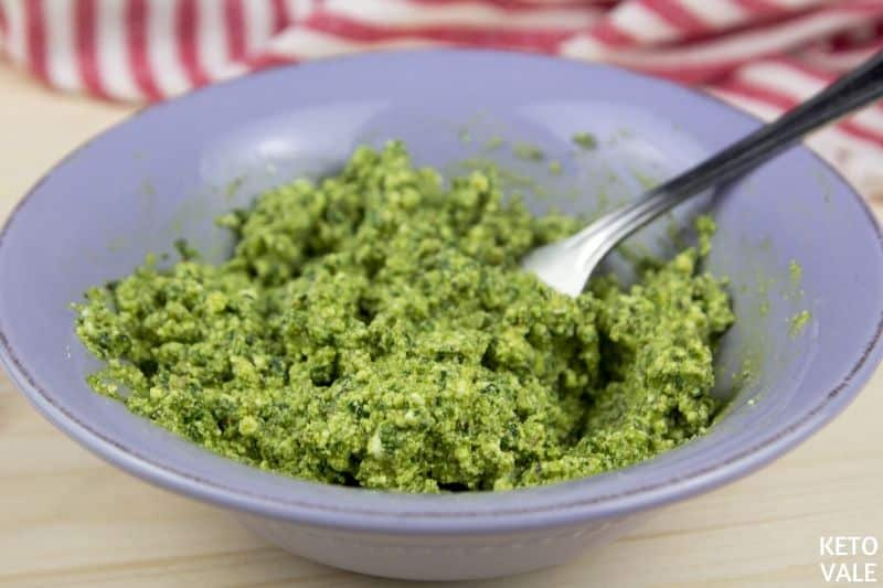 mix ricotta spinach pesto