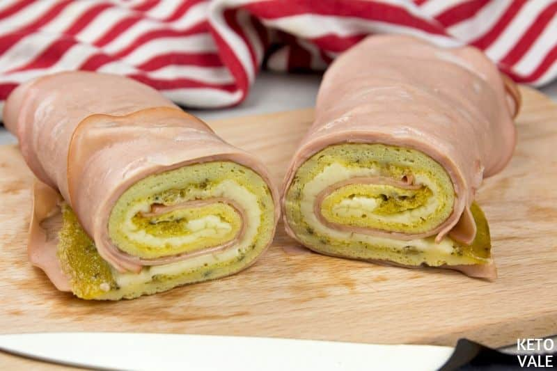 serve mortadella omelette roll