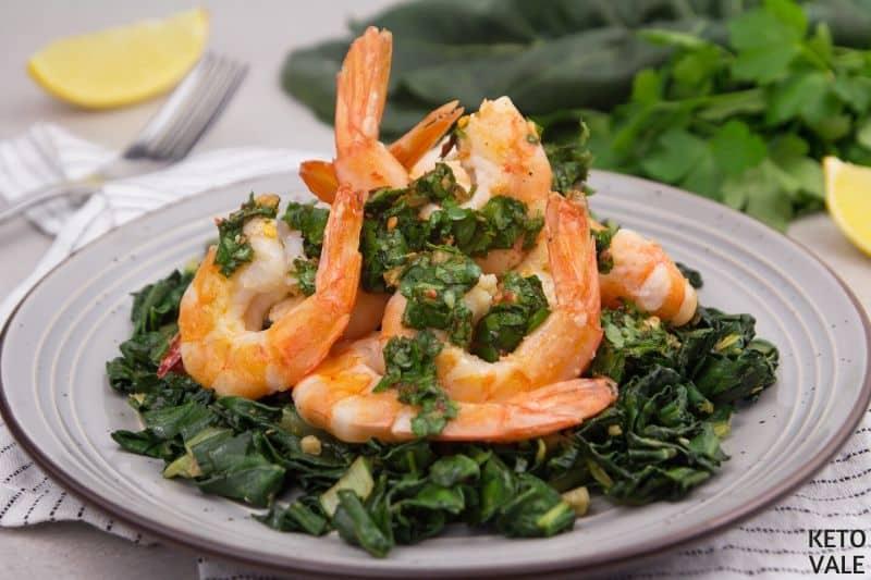serve shrimp with gremolata dressing