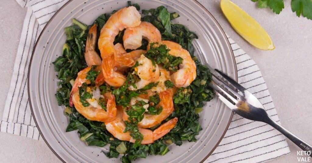 shrimp with gremolata dressing