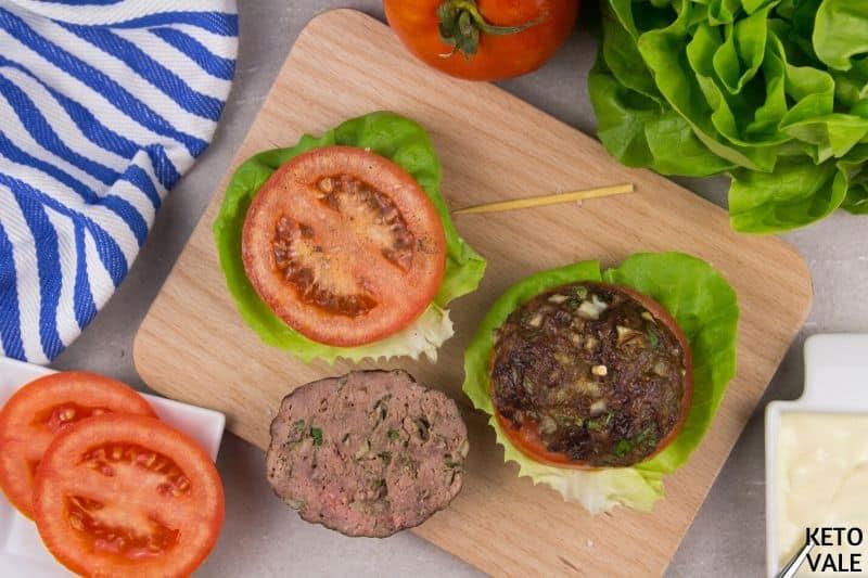 spread mayo lettuce tomato meatball