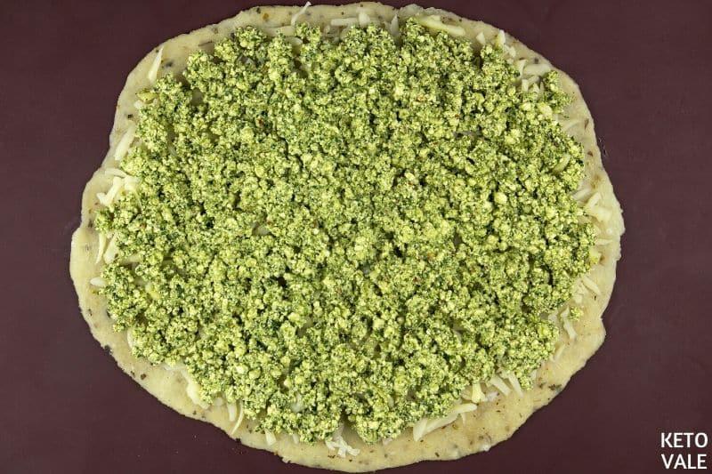top ricotta spinach mixture