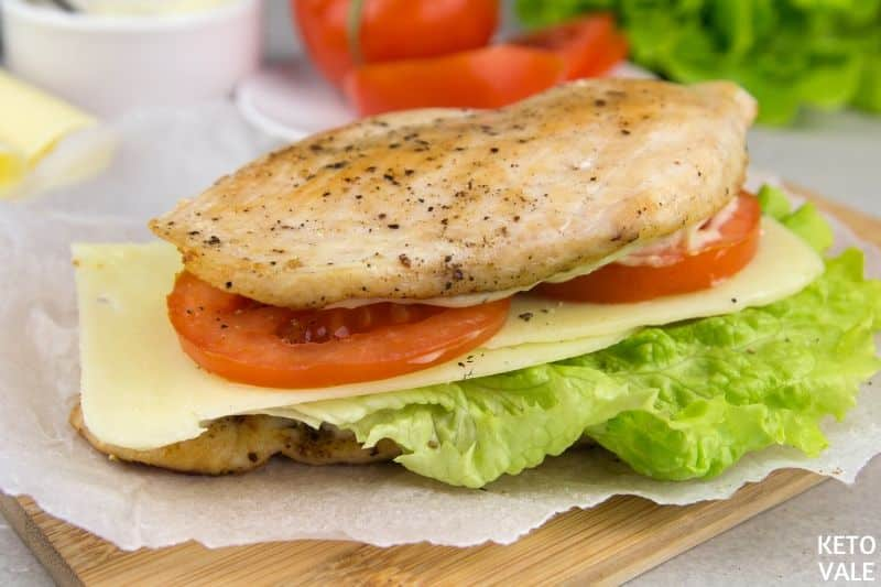 top sandwich other chicken slice