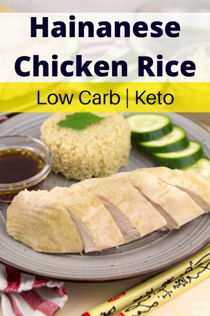 keto hainanese chicken rice