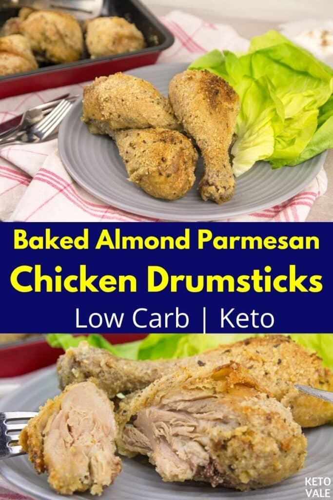 low carb almond parmesan drumsticks