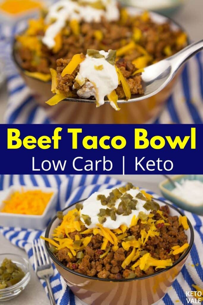 low carb beef taco bowl
