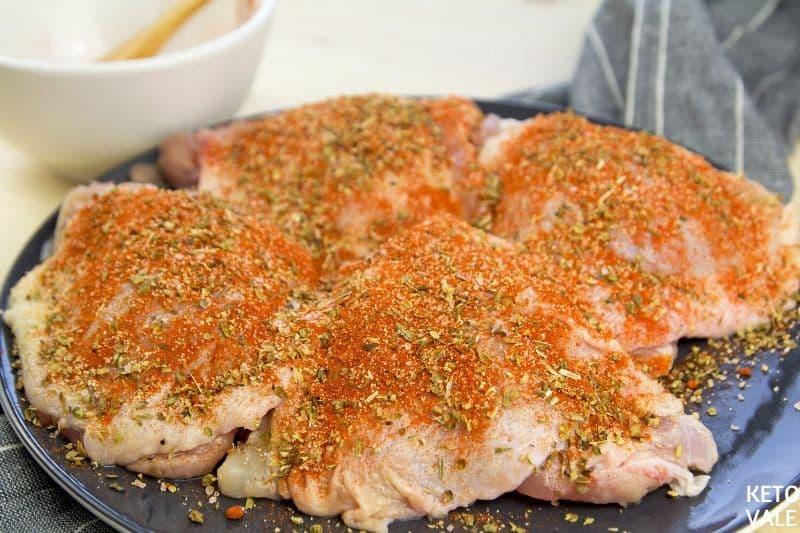 coat chicken spice mixture