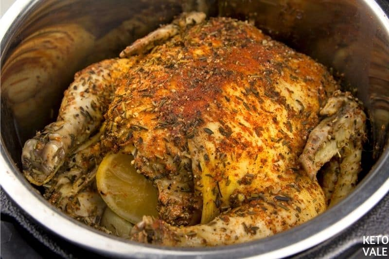 cook chicken breast side up