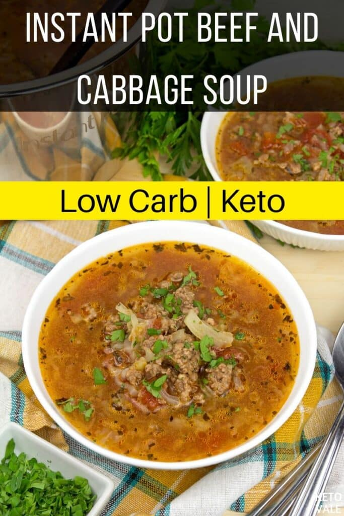 keto instant pot beef cabbage soup