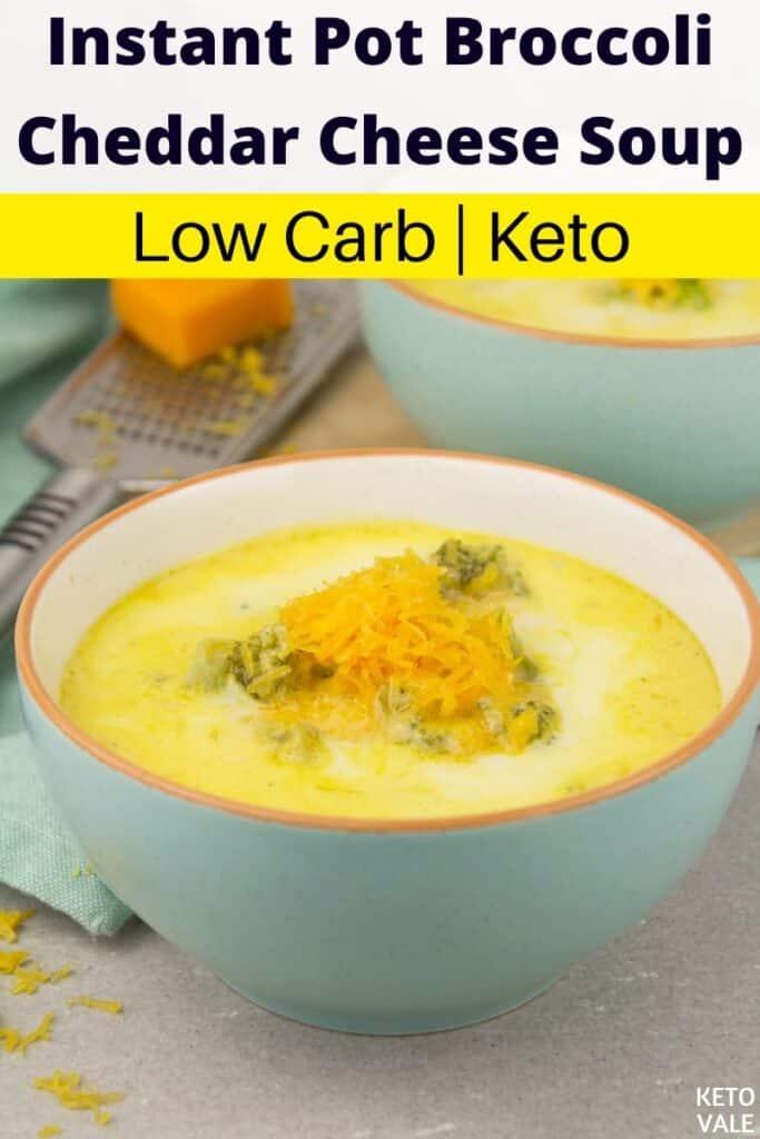 keto instant pot broccoli cheese soup
