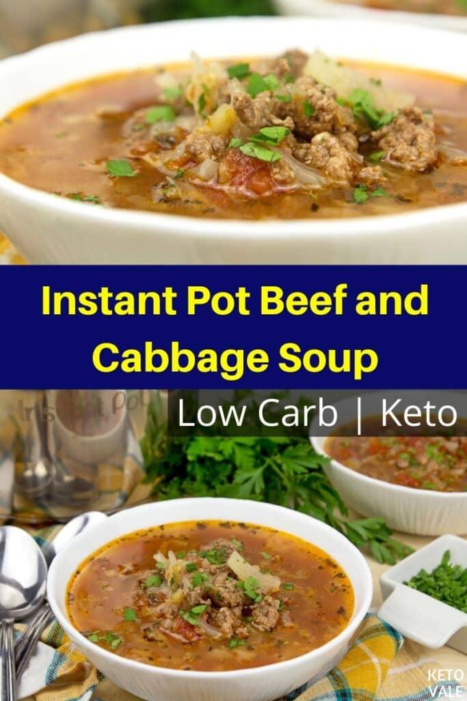 low carb instant pot beef cabbage soup