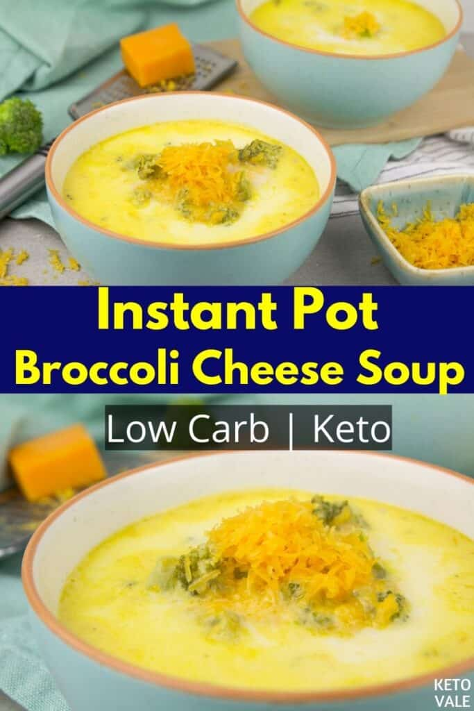 low carb instant pot broccoli cheese soup