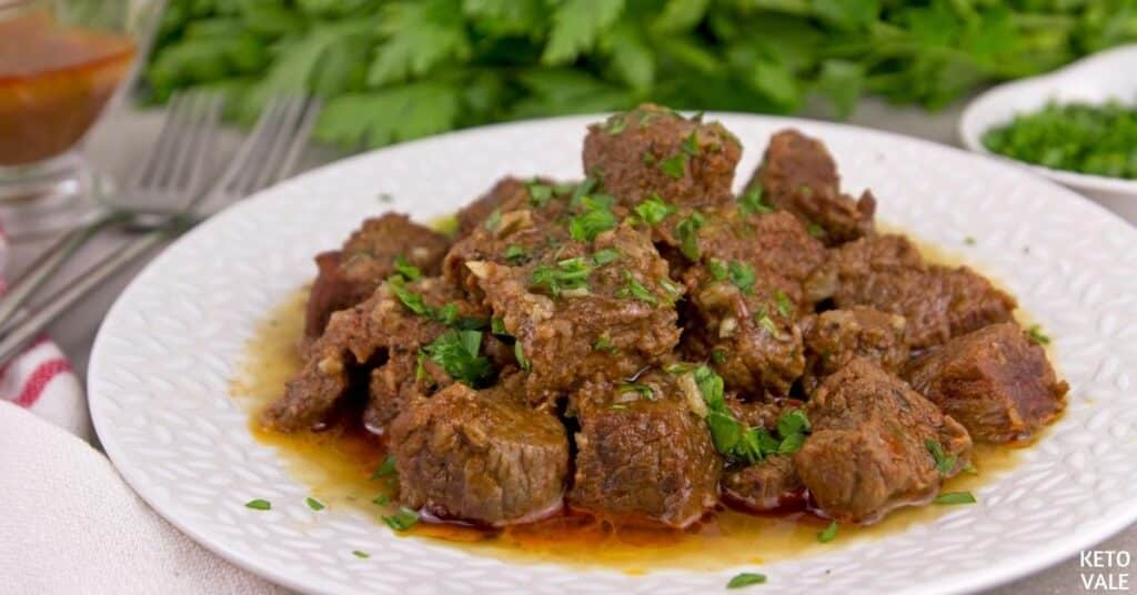 instant pot spicy butter steak bites