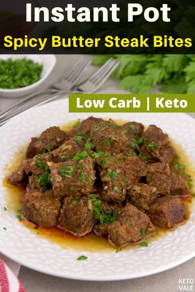 bouchées de steak au beurre instantané Keto