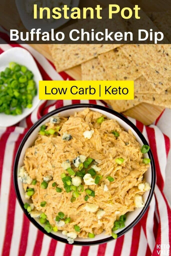 low carb instant pot buffalo chicken dip