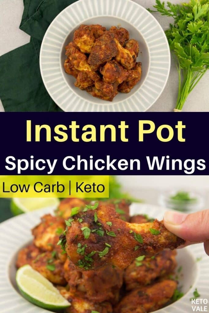 low carb instant pot spicy chicken wings