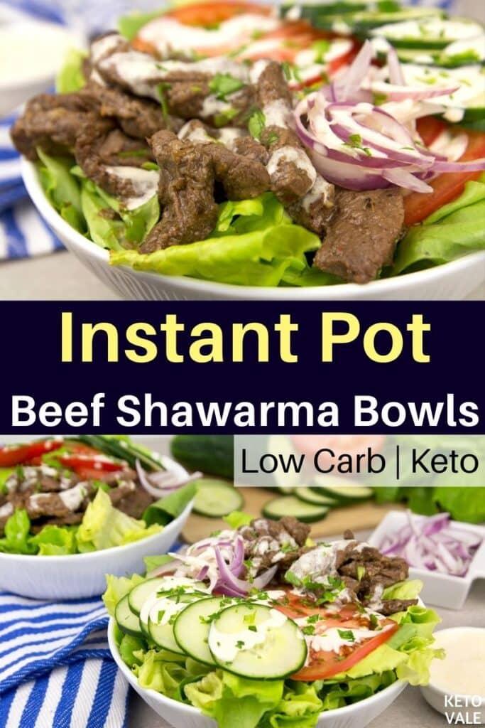 instant pot beef shawarma bowls