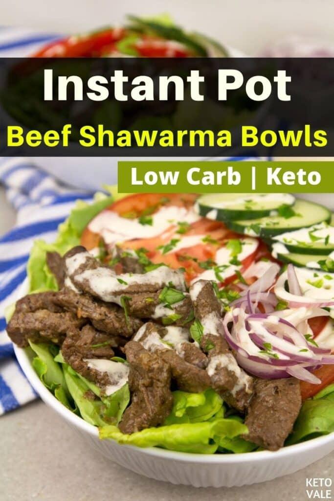 low carb instant pot beef shawarma