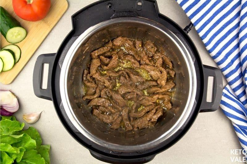 saute beef in instant pot