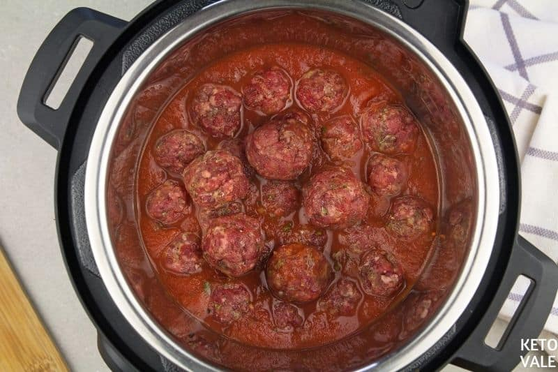 cook meatballs inside instant pot