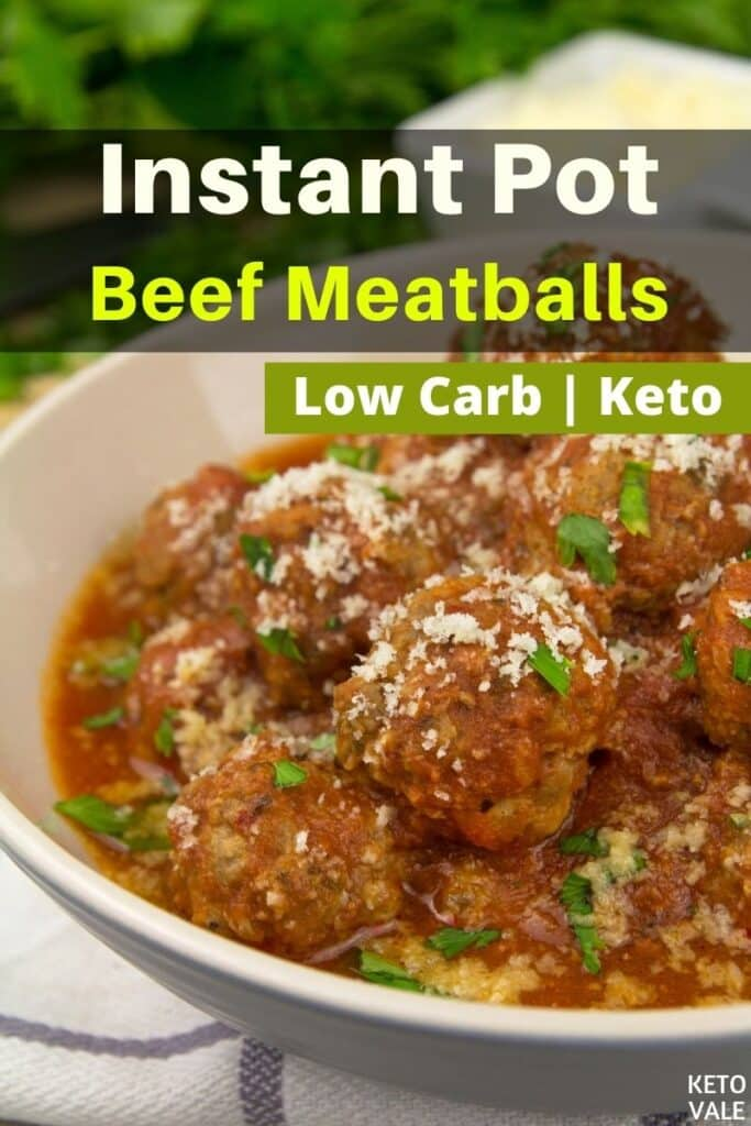low carb instant pot meatballs