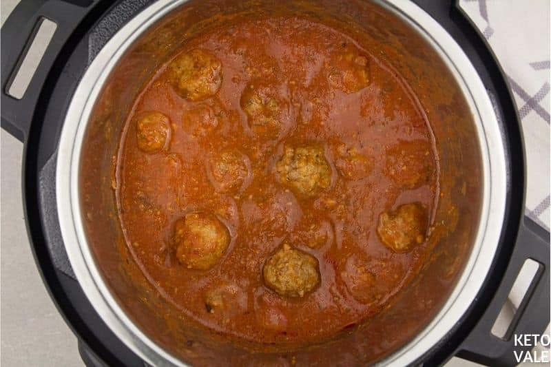 serve meatballs with parmesan
