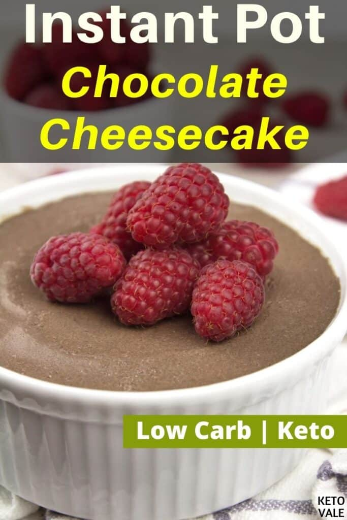 low carb instant pot chocolate cheesecake