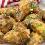 air fryer garlic parmesan chicken wings