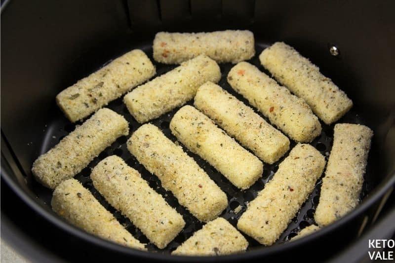 air fried mozzarella sticks