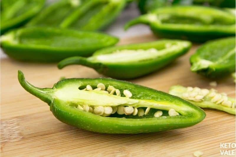 cut jalapenos length wise