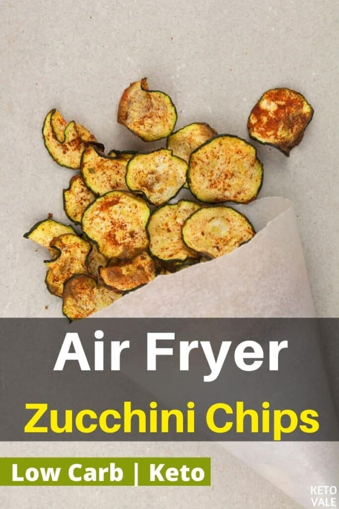 keto air fried zucchini chips