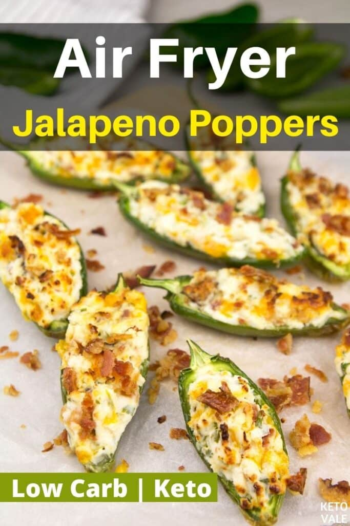 keto air fryer jalapeno poppers