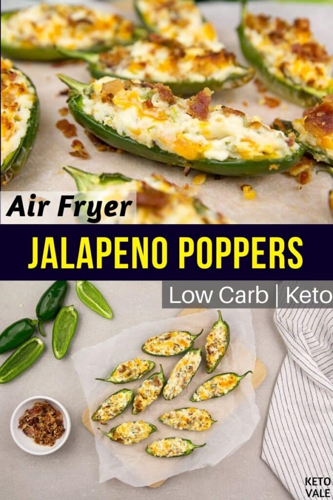 low carb air fryer jalapeno poppers