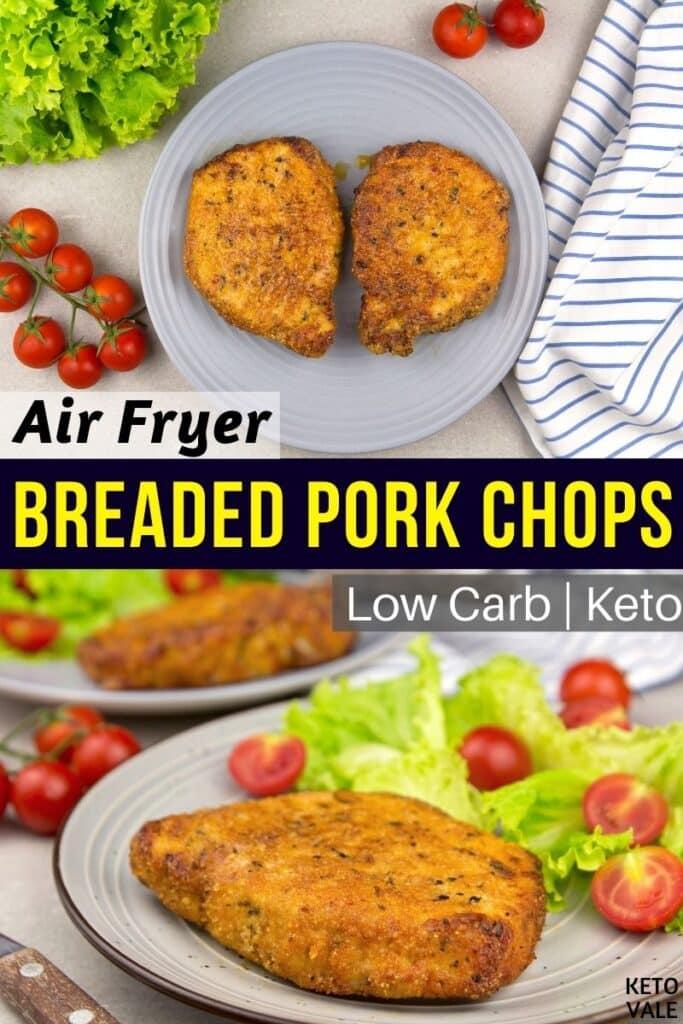 low carb air fryer pork chops