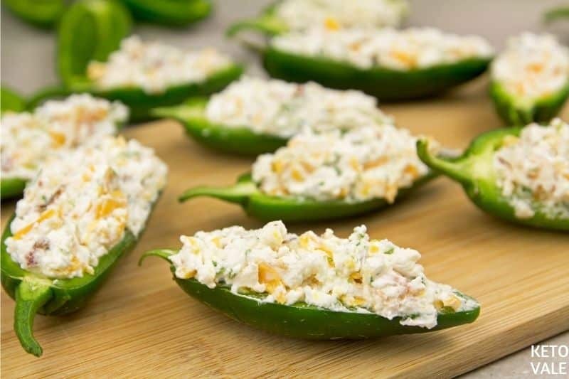 stuff cream cheese in jalapenos