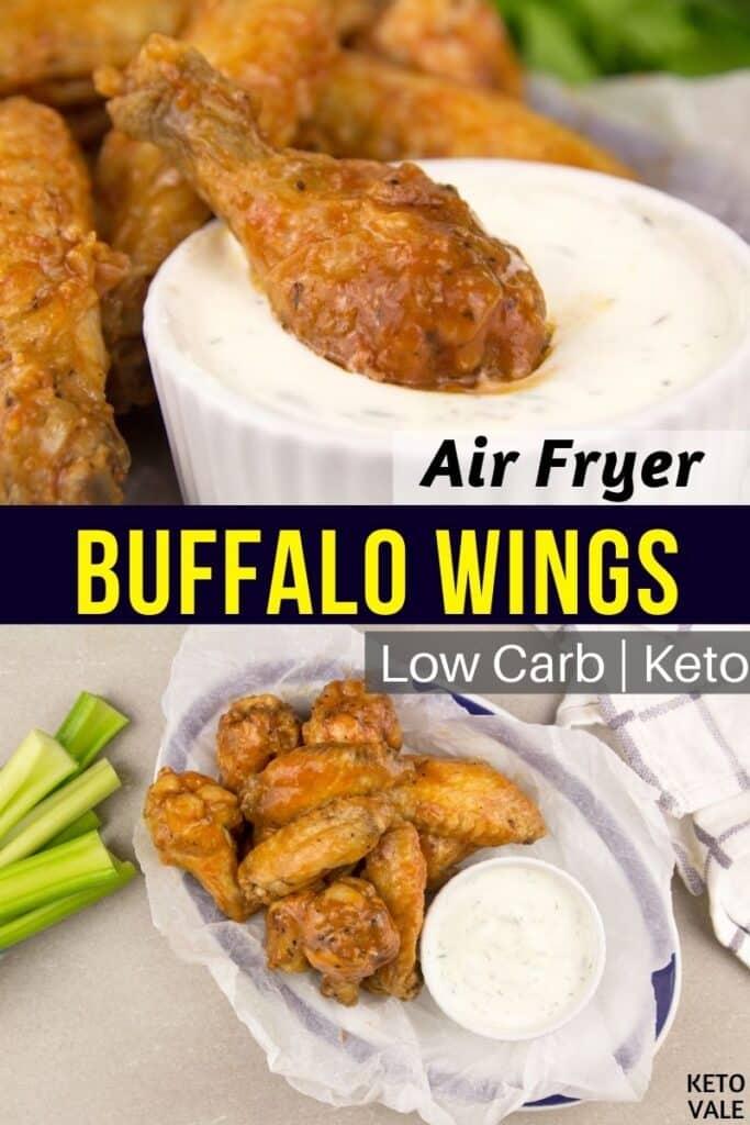 keto air fryer buffalo wings