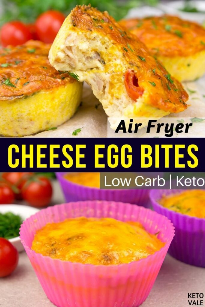 air fryer ham cheese egg bites